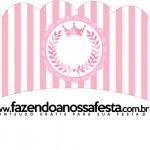 Saias Wrappers para Cupcakes Kit Realeza Rosa
