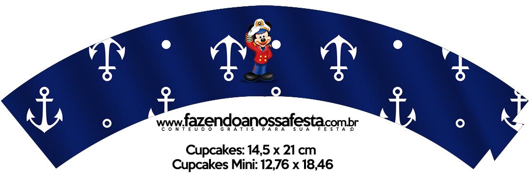 Saias Wrappers para Cupcakes Mickey Marinheiro
