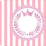 Tag pequena Kit Realeza Rosa