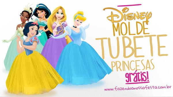 Tubete Vestido de Princesa - Pronto para Imprimir