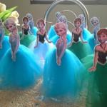 Tubete com Tule Festa Frozen