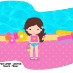 Bandeirinha Sanduiche Pool Party Menina 2