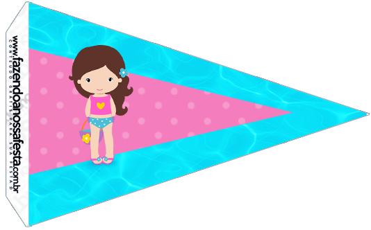 Bandeirinha Sanduiche 3 Pool Party Menina