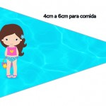 Bandeirinha Sanduiche 4 Pool Party Menina