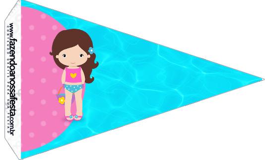 Bandeirinha Sanduiche Pool Party Menina