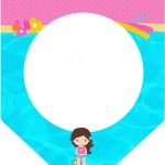 Bandeirinha Varalzinho Pool Party Menina