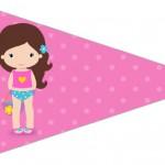 Bandeirinha sanduiche 2 Pool Party Menina