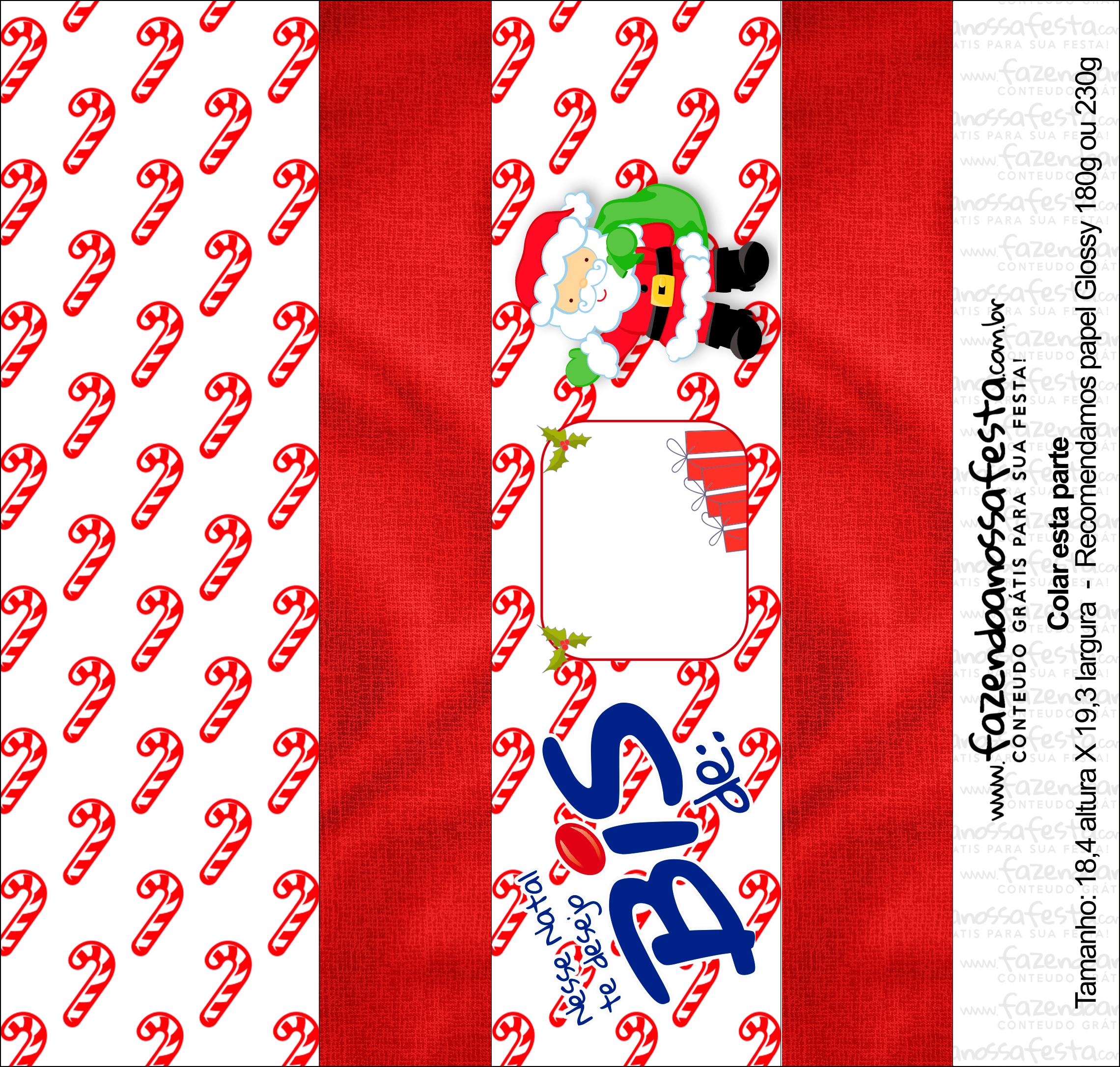 Caixa Bis Presente de Natal Papai Noel Vermelho