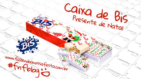 Caixa Bis Presente De Natal Criativo E Barato