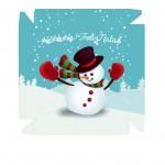 Caixa Boneco de Neve - Frente