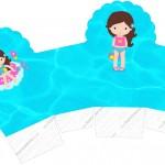 Caixa Cupcake Pool Party Menina