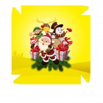 Caixa Personalizada Boneco de Neve Amarelo - Frente