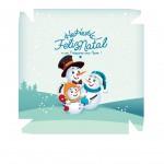 Caixa Personalizada Boneco de Neve Azul Claro - Frente
