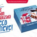 Caixa Personalizada Boneco de Neve para Natal