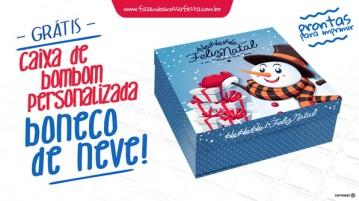 Caixa Personalizada Boneco de Neve Bombom