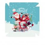 Caixa Personalizada Natal Boneco de Neve - Frente