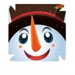 Caixa Personalizada Rosto Boneco de Neve - Frente