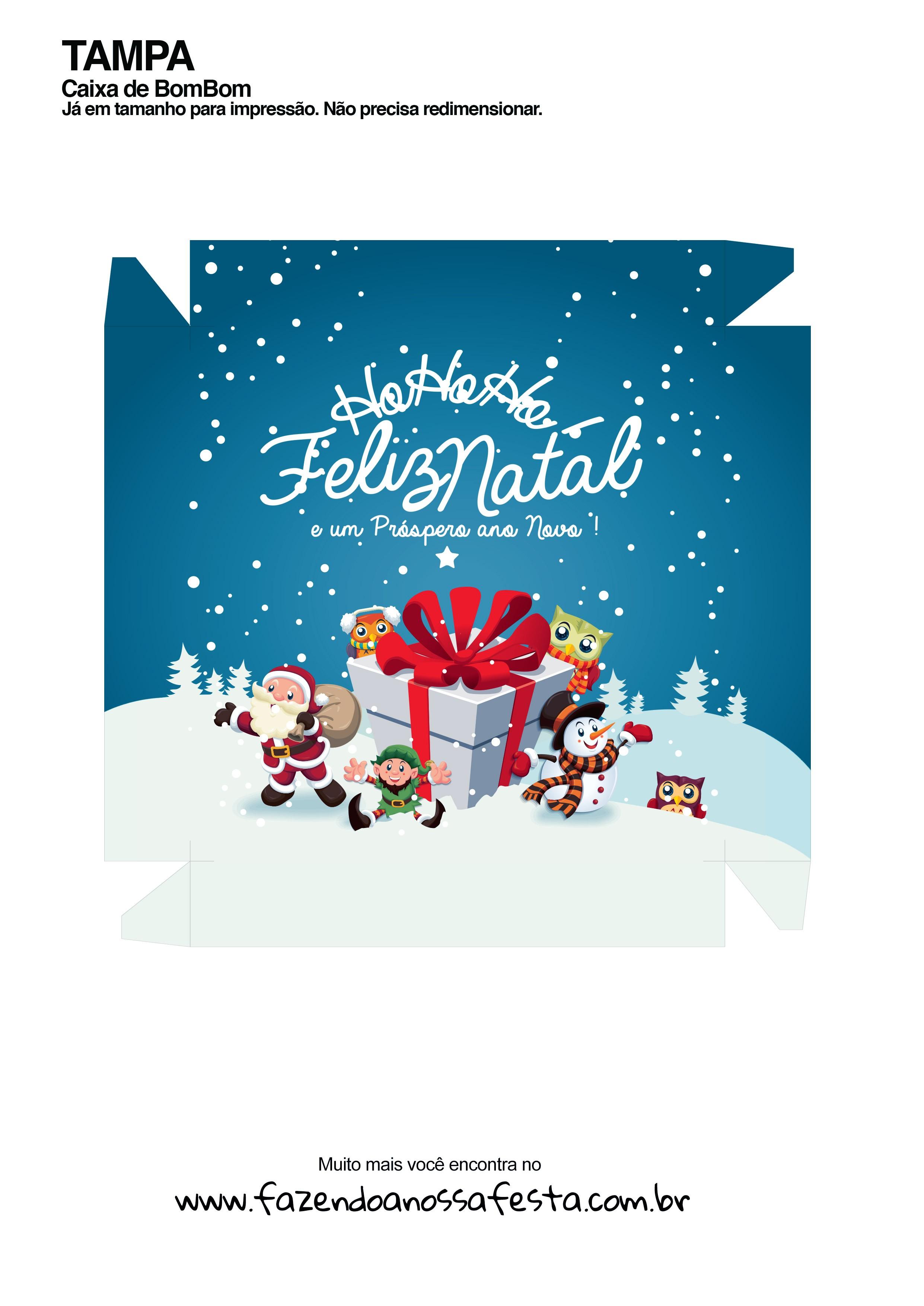 Caixa Personalizada para o Natal - Frente