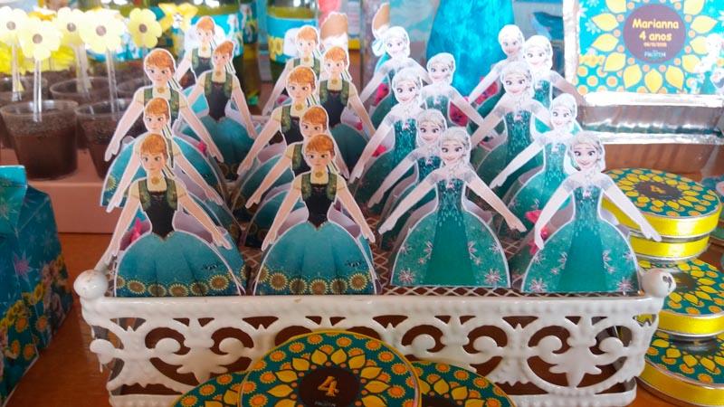Caixa Vestido Festa Frozen Fever da Marianna