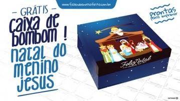 Caixa bombom Nascimento de Jesus - Modelo