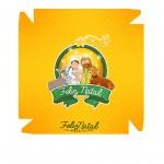 Caixa bombom Nascimento de Jesus Amarelo - Frente