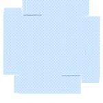 Caixa bombom Nascimento de Jesus Azul Claro - Verso