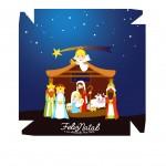 Caixa bombom Nascimento de Jesus Azul - Frente