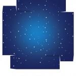 Caixa bombom Nascimento de Jesus Azul - Verso