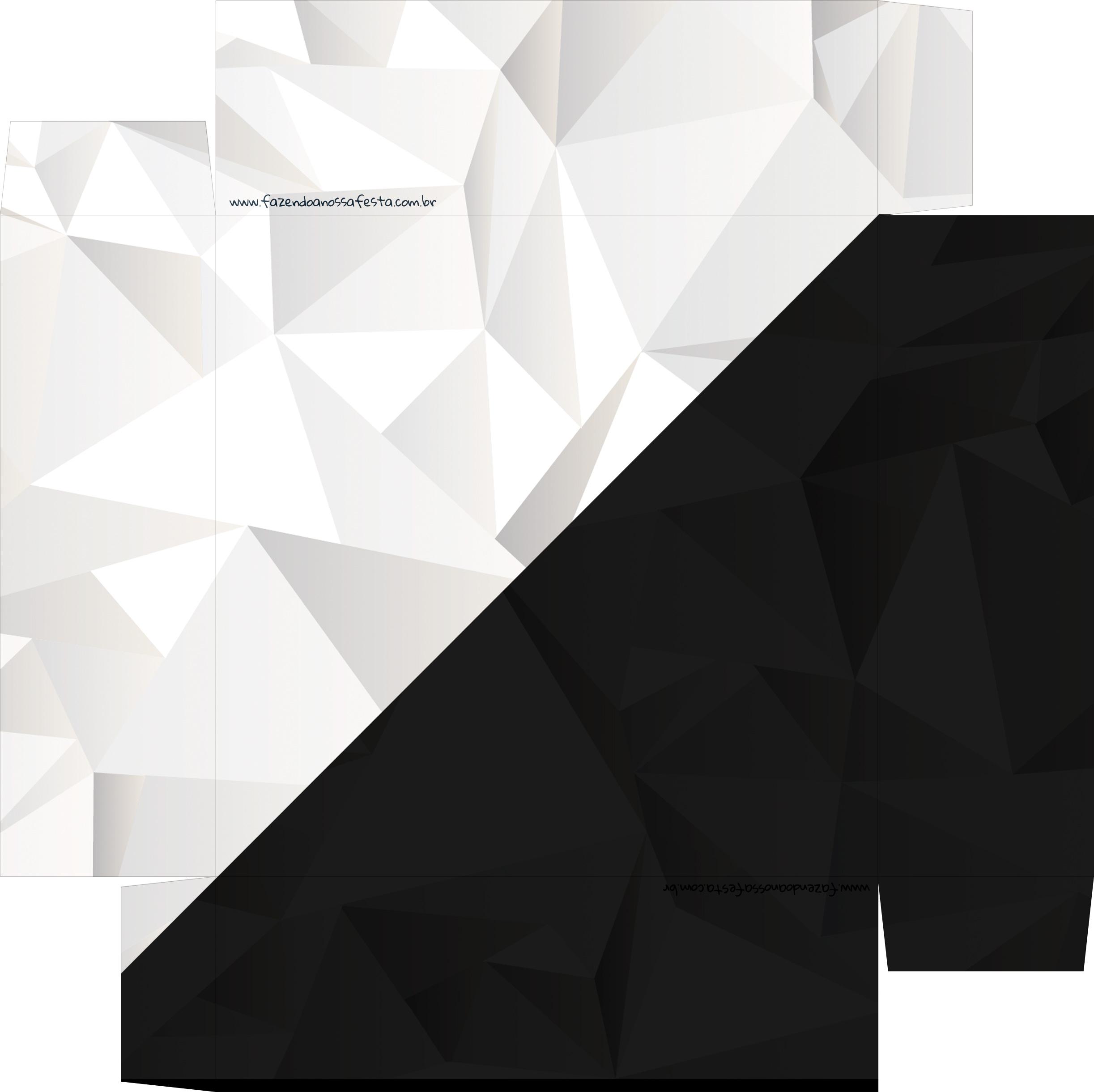 Caixa de BomBom Lembrancinha Ano Novo Diamante Negro 2 Base