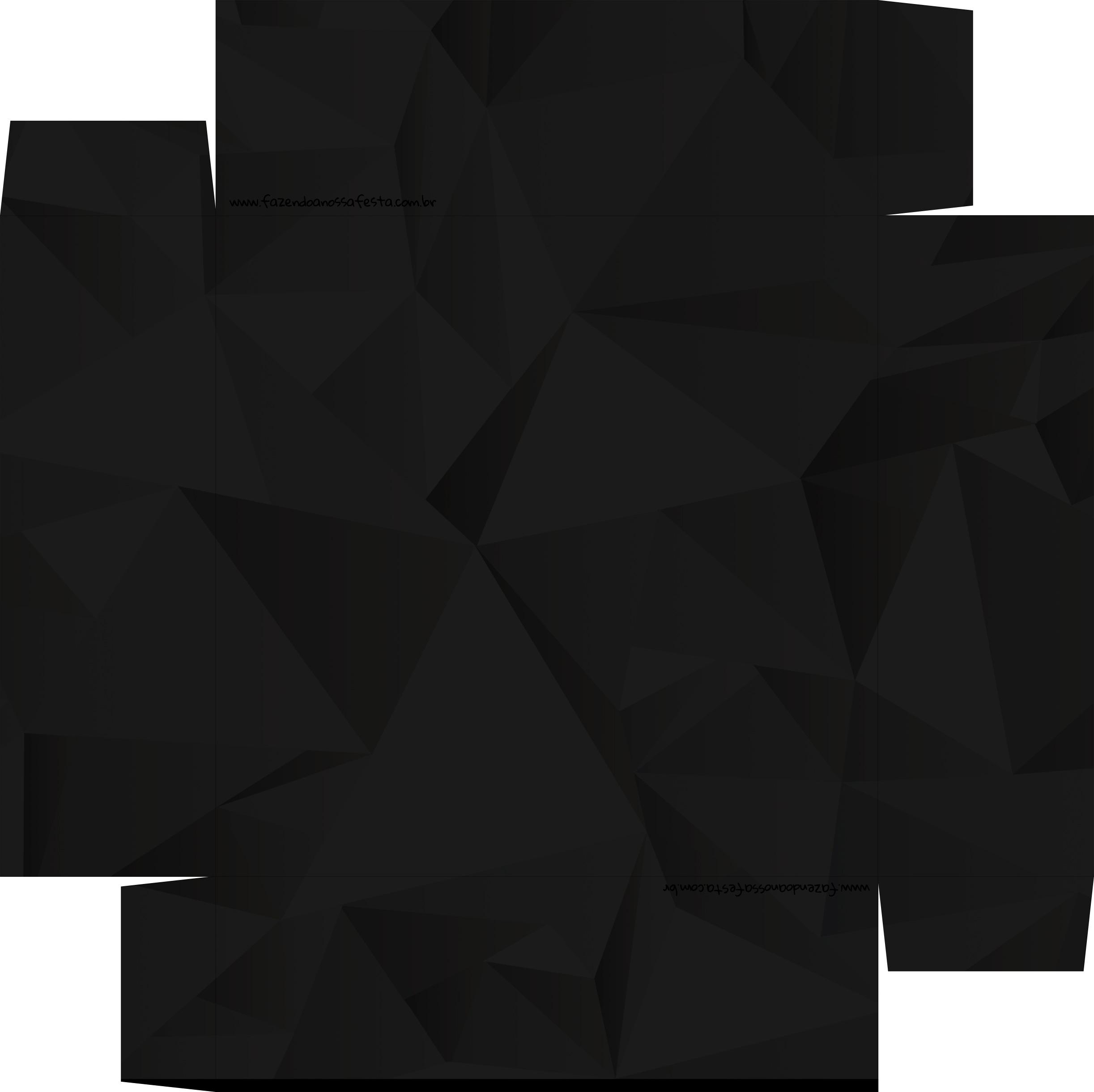 Caixa de BomBom Lembrancinha Ano Novo Diamante Negro Base