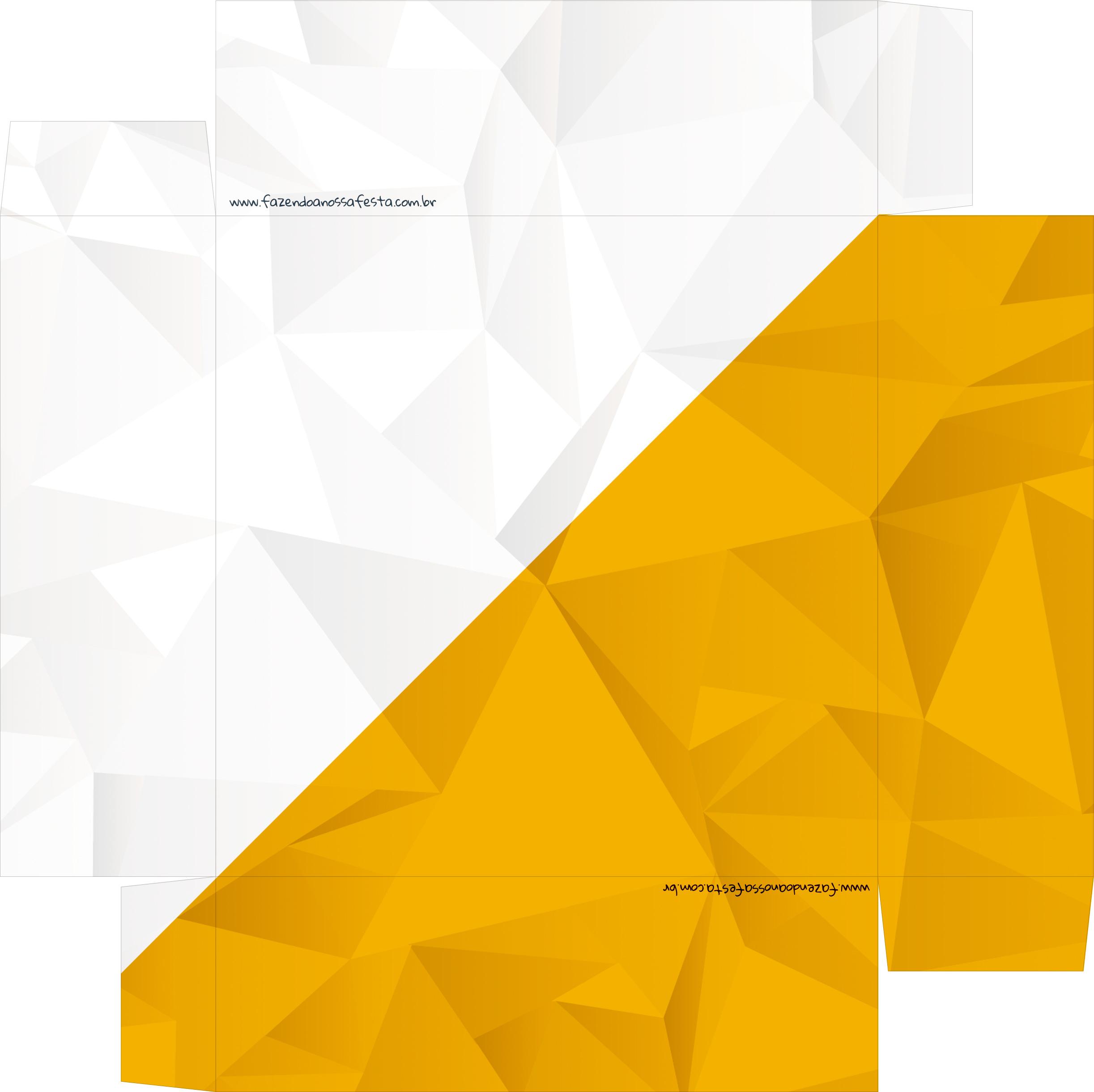 Caixa de BomBom Lembrancinha Ano Novo Ouro Branco 2 Base
