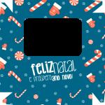 Caixa de Bombom Natal Azul