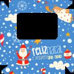 Caixa de Bombom Natal Azul Claro