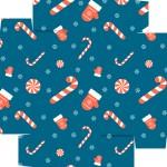 Caixa de Bombom Natal Azul - Fundo