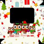 Caixa de Bombom Natal Corujas