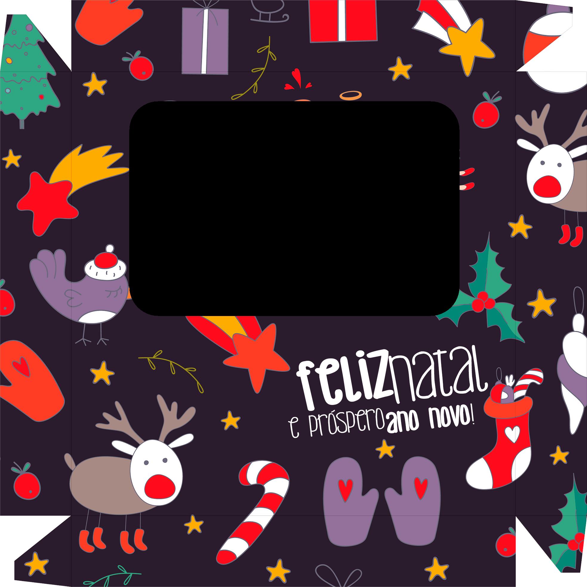 Caixa de Bombom Natal Roxa