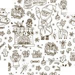 Caixa de Bombom Natal para colorir - Fundo