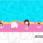 Caixa de Leite Pool Party Menina