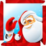 Caixa de bombom Natal Papai Noel acenando