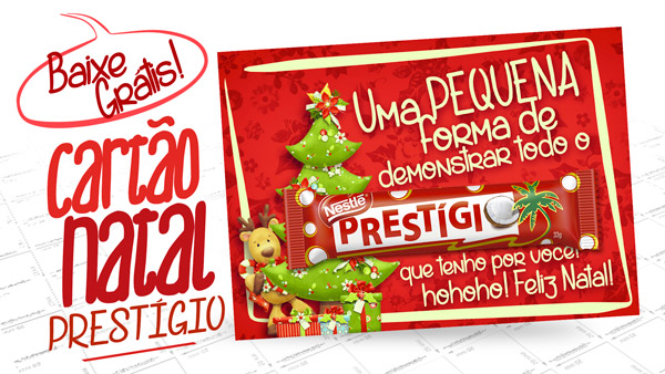 Cartão Agradecimento Prestígio de Natal