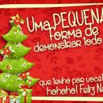 Cartão de Agradecimento Prestígio para Natal Vermelho 4
