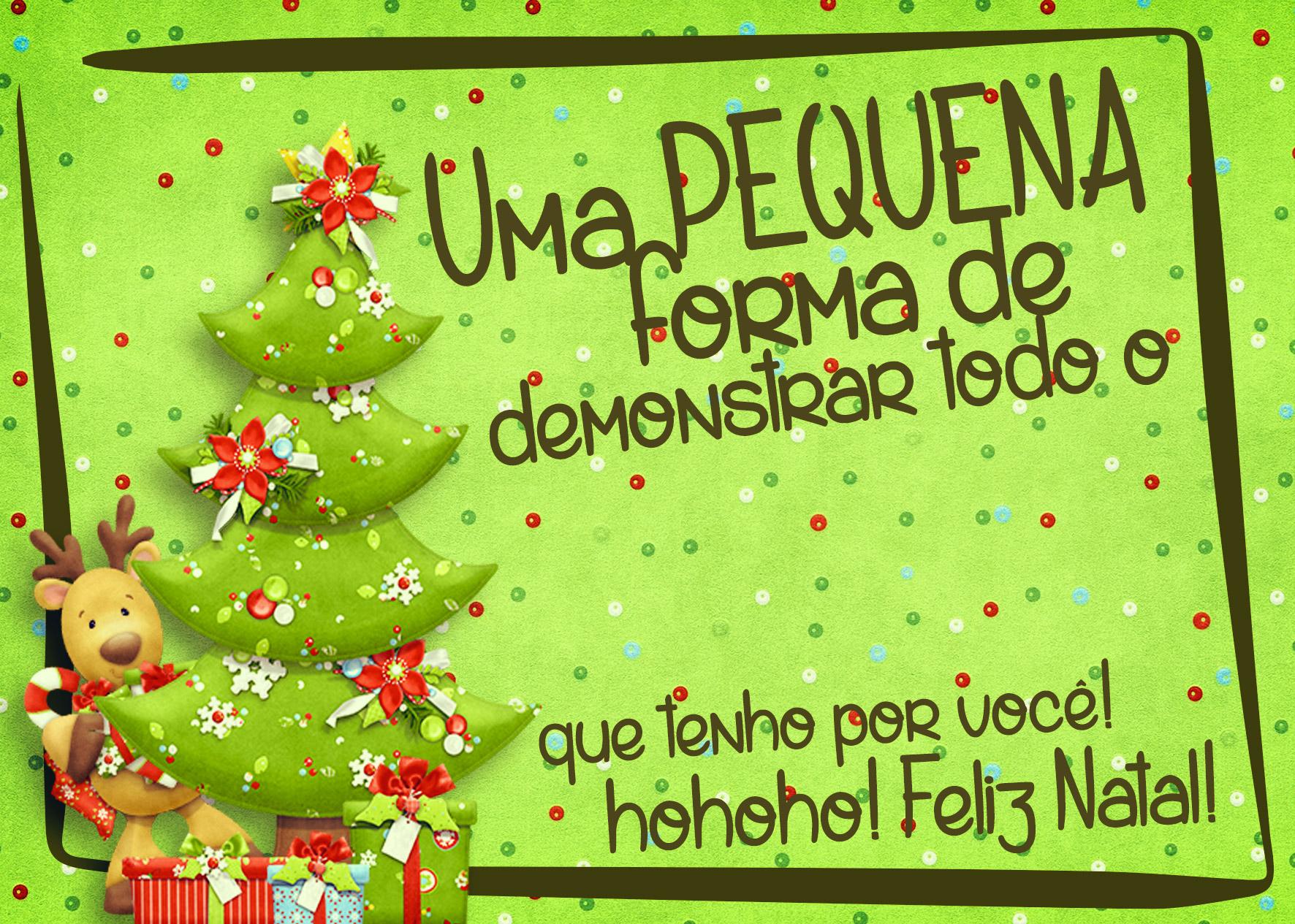 Cartão de Agradecimento Prestígio para Natal Verde 3
