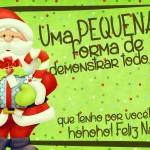 Cartão de Agradecimento Prestígio para Natal Verde 4