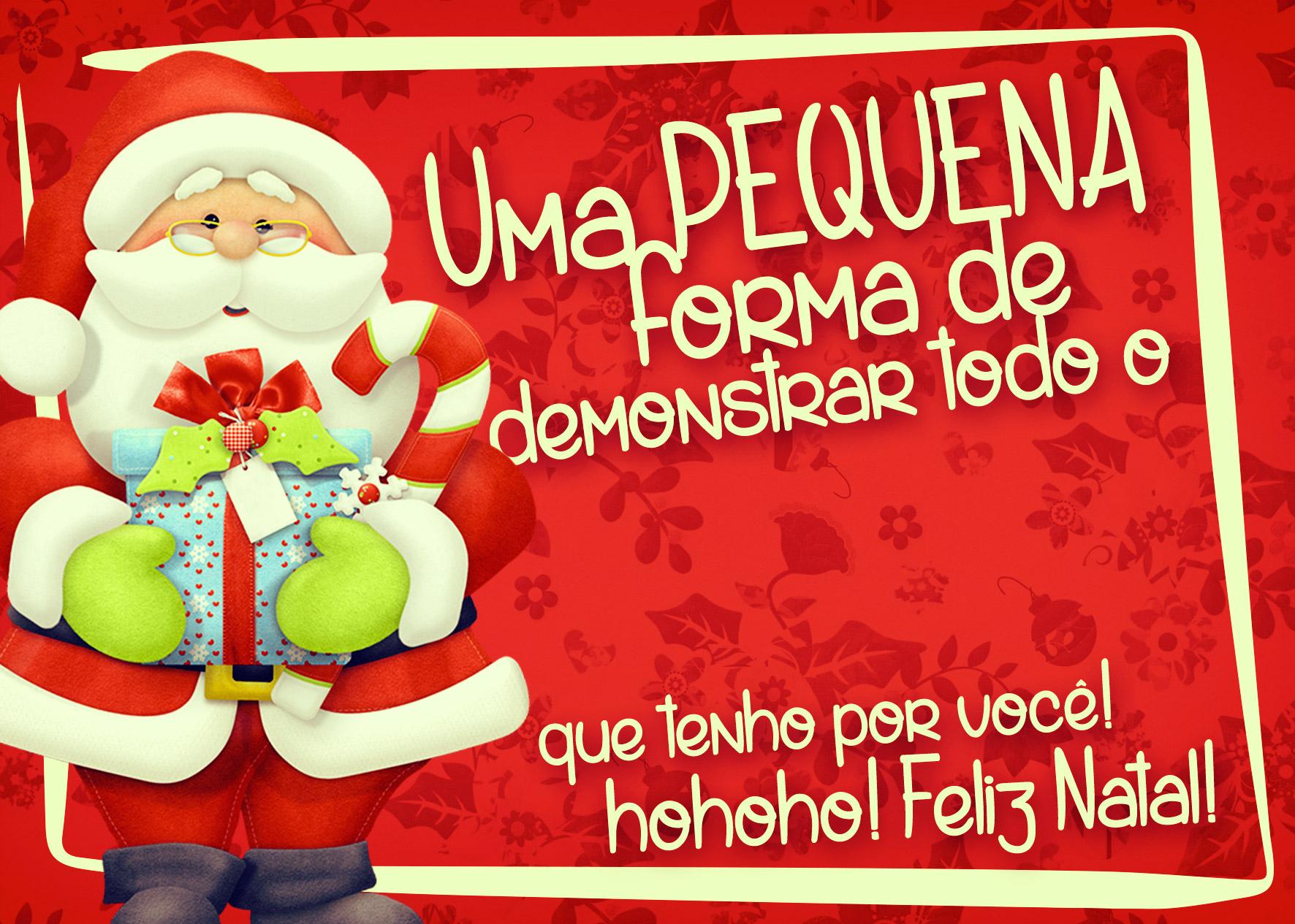 Cartão de Agradecimento Prestígio para Natal Vermelho 3