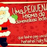 Cartão de Agradecimento Prestígio para Natal Vermelho 2