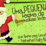 Cartão de Agradecimento Prestígio para Natal Verde 2
