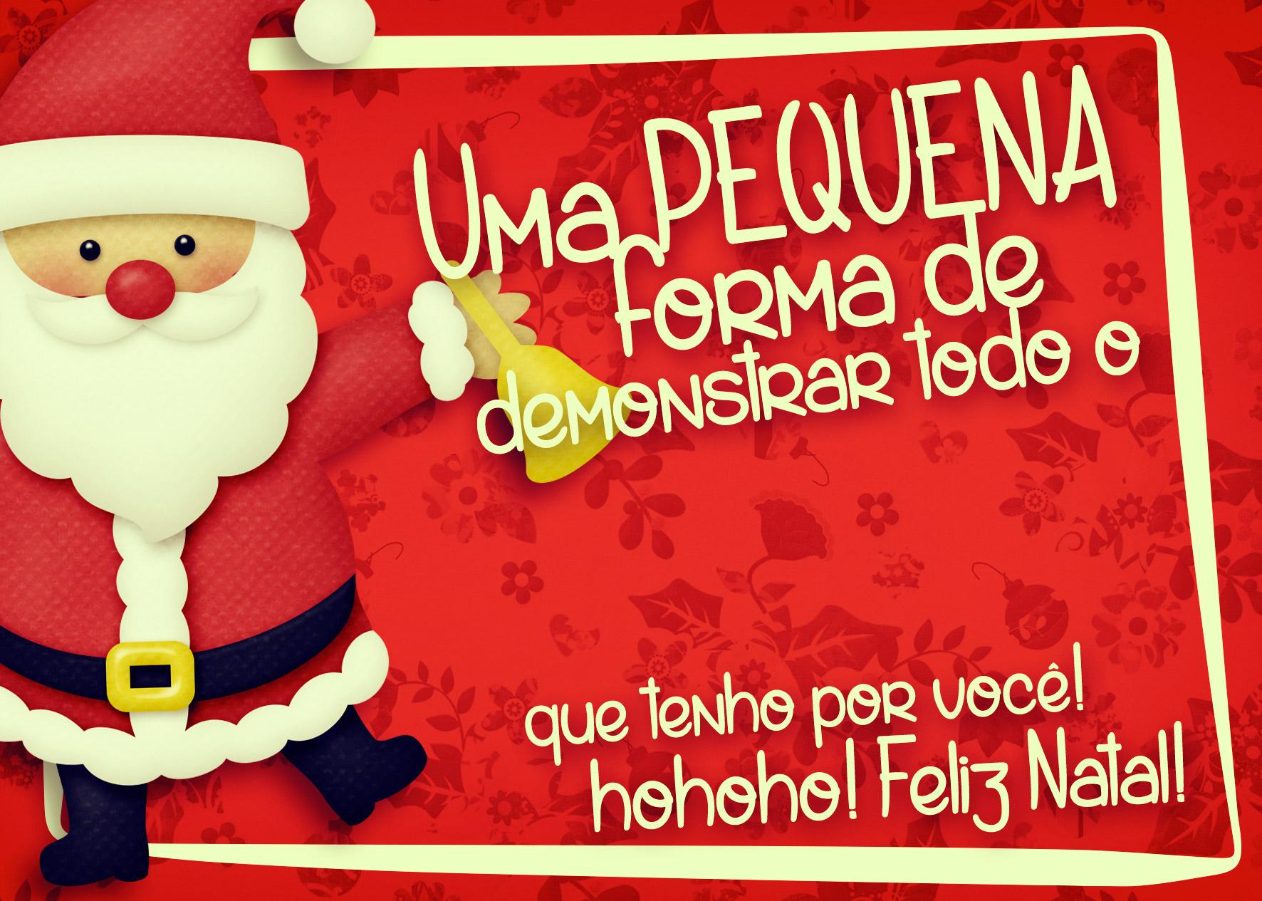 Cartão de Agradecimento Prestígio para Natal Vermelho 1
