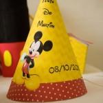 Chápeuzinho de festa Festa Mickey Mouse do Martim