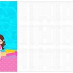 Convite, Cardápio ou Cronograma em Z Pool Party Menina