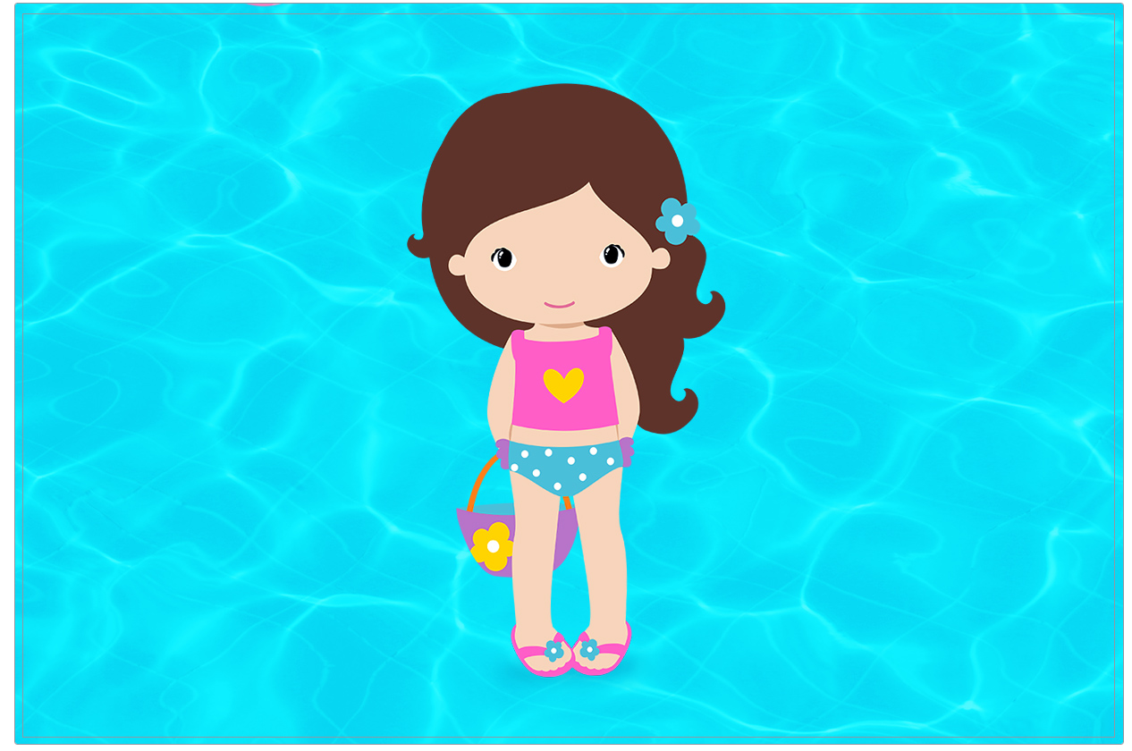 Convite ou Cartão Pool Party Menina